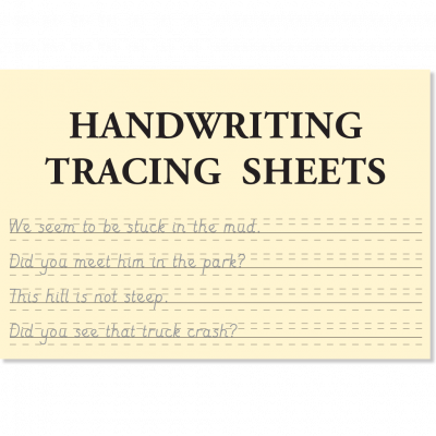 Handwriting Tracing Sheets