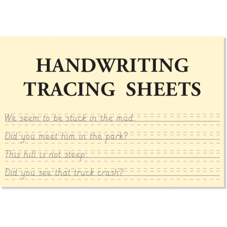 Handwriting Tracing Sheets for use with Apples and Pears books for children by Sound Foundations Books