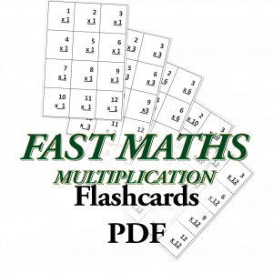 Fast Maths, Multiplication Flashcards
