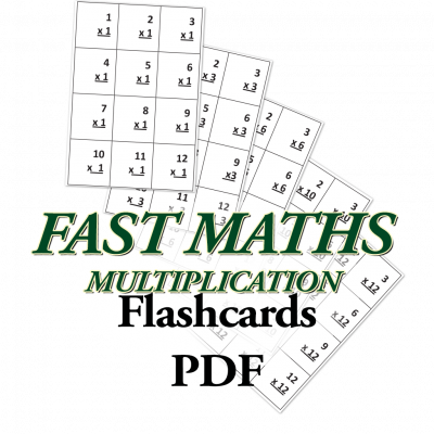 Fast Math, Multiplication Flashcards